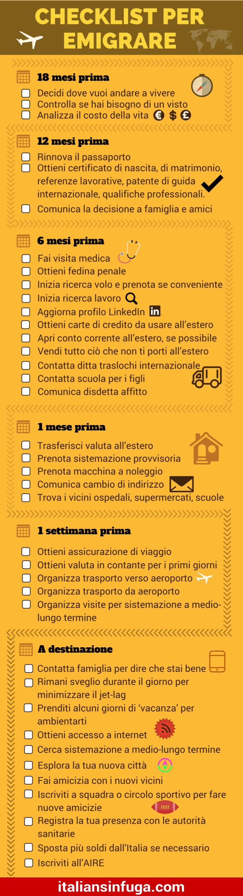 checklist-per-emigrare